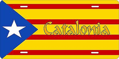 Catalonia Flag License Plate Personalized Car Auto Bike Moped Motorcycle
