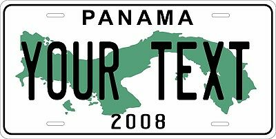 Panama 2008 License Plate Personalized Car Auto Bike Moped Motorcycle Custom Tag