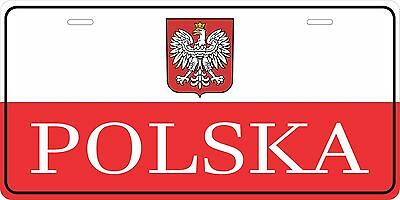 Polska Euro Tag License Plate Personalized Custom Auto Car Bike Moped Motorcycle