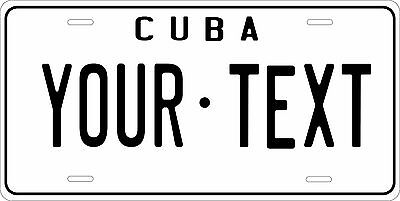 Cuba 1962 Custom Personalized Vehicle Car Auto Motorcycle Bike License Plate Tag
