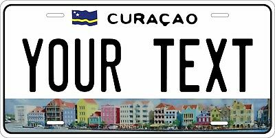 Curacao Island License Plate Personalized Car Auto Bike Moped Motorcycle Tag