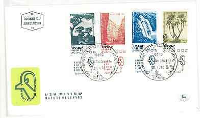 Israel 1970 Nature Set On First Day Cover Very Fine.
