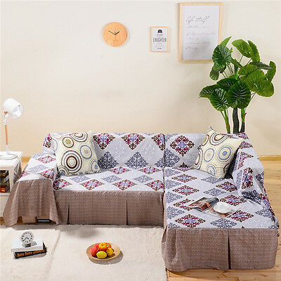Pretty Polyester Sofa Cover lauR Couch Protector for 1 2 3 4 seater xcq