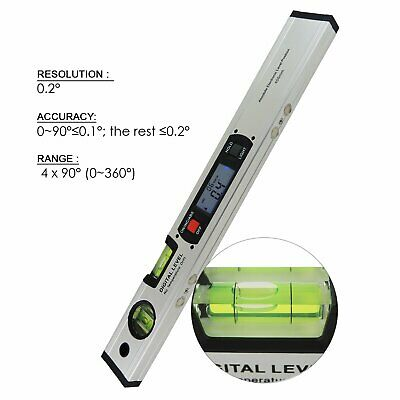 Level Inclinometer 4 x 90° Quadrant Angle Finder Spirit Level 360° Read Upright