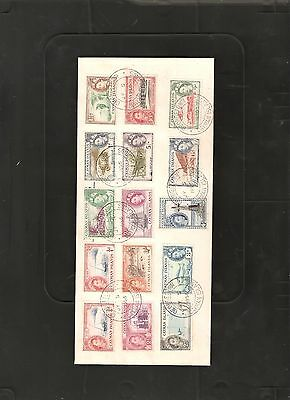 Cayman Islands 1955 Set to 10/- Cover