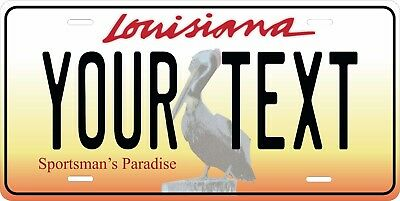 Louisiana 2005 License Plate Personalized Custom Car Bike Motorcycle Moped Tag