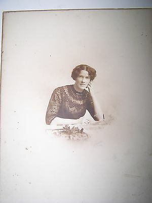 Vintage or antique photo, printed on quality card. Lady.