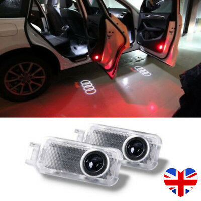2x For Car Shadow Projector Laser Door Courtesy LED light Logo Audi A4 A6 A8 Q7