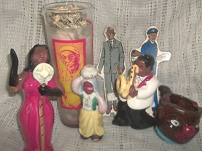 black AMERICANA Lot vintage of ceramic and glass