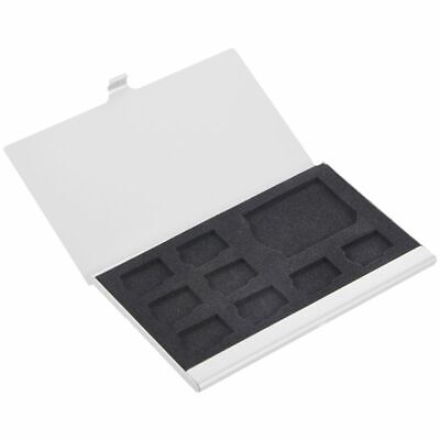 9 Micro-SD/SD Memory Card Storage Holder Box Protector Metal Cases 8 TF&1 S PF