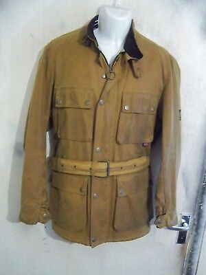 Belstaff Roadmaster Gold Label Waxed Cotton Motorcycle Jacket Size M