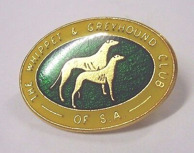Vintage Whippet & Greyhound Club Of South Australia Badge Pin Dog