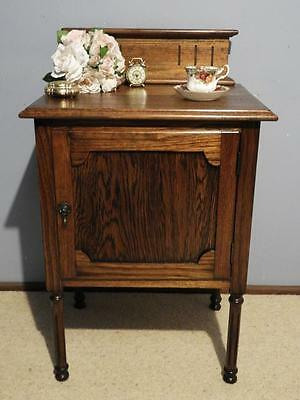 VINTAGE ART DECO FRENCH PROVINCIAL BEDSIDE HALL LAMP SIDE TABLE CABINET C1920's