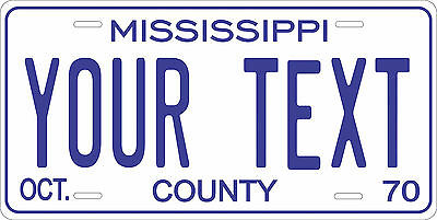 Mississippi 1970 Plate Personalized Custom Car Bike Motorcycle Moped Tag