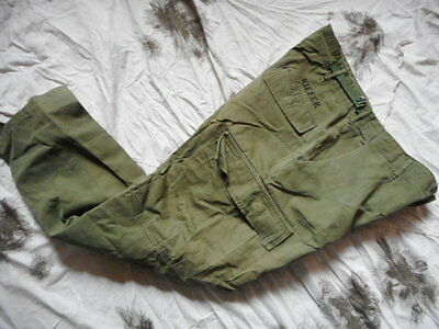 1967 US ARMY VIETNAM OG 2nd PATT BDU COMBAT TROUSERS none ripstop NAMED TAILORED