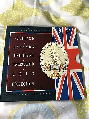 falkland islands brilliant uncirculated coin collection 1992 royal mint