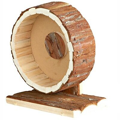 TRIXIE Rodent Mice Hamster Exercise Running Wheel 20cm Wood Natural Living 61035