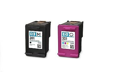 Genuine Hp 301 Black And Tricolour Dual Pack Ink Cartridges - Unboxed