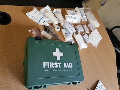 FIRST AID KIT HSA Approved TRAVEL Work/Car/Home Emergency Hard Case NEW!