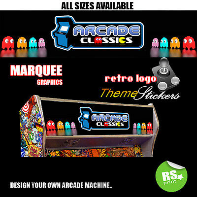 Classics Arcade Marquee Stickers Graphic / Laminated All Sizes