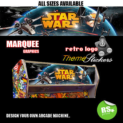 Starwars v4 Arcade Marquee Stickers Graphic / Laminated All Sizes