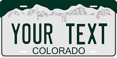Colorado 2000 License Plate Personalized Custom Car Bike Motorcycle Moped Tag