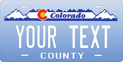 Colorado Blue License Plate Personalized Custom Car Bike Motorcycle Moped Tag