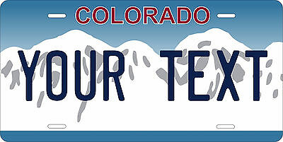 Colorado Blue 2  License Plate Personalized Custom Car Bike Motorcycle Moped Tag