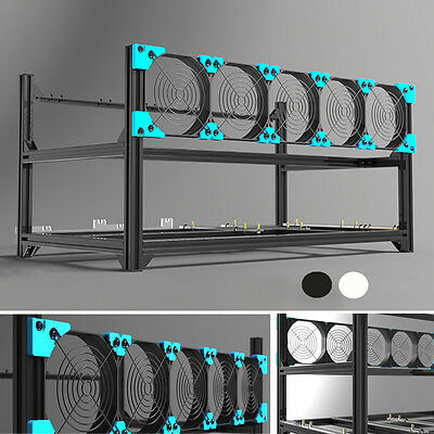 Stackable Aluminum 6 GPU Open Air Frame Mining Rig Case Computer for Ethereum