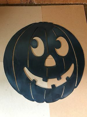 Vintage Halloween Blow Mold Pumpkin Haunted Decoration Union Products Rare