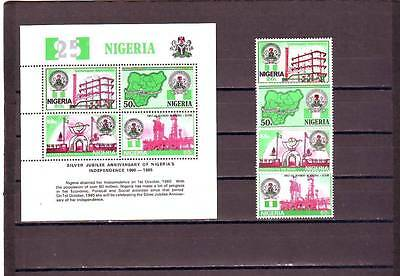 a123 - NIGERIA - SG495-MS499 MNH 1985 25th ANNIV INDEPENDENCE