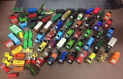 Massive Lot Of Wooden Thomas The Tank Trains Tracks Buildings Etc