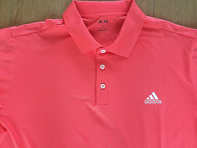 New no Tags Size XL Adidas Golf Polo Shirt Coral