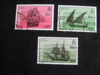 Bermuda: 1990 Ship issue surcharge set of 3,  used