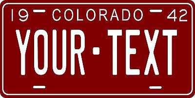 Colorado 1971 License Plate Personalized Custom Car Bike Motorcycle Moped Tag