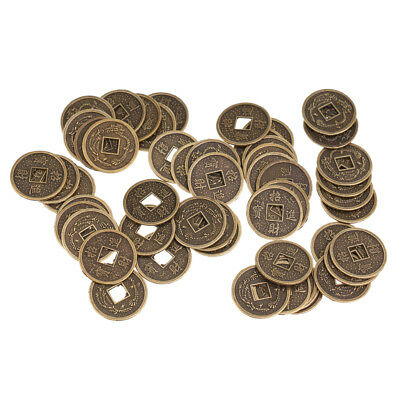 50pcs 2cm Feng Shui Coins Chinese Lucky Coins for Decoration DIY Ornament