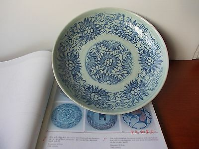 "17th - 18th Centuries Blue & White ""Sino-Islamic/Allah"" Arabic Calligraphy Plate"