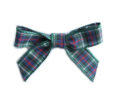 Pack of 20 Tartan Bows. Made from 10mm ribbon. 12 Tartans to chose from.