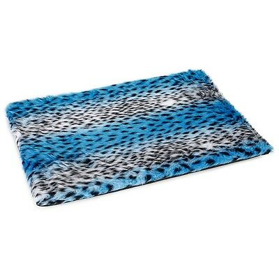 Beeztees Dog Crate Bedding Mat Polyester Washable 57x40 cm Blue Teddy 705761