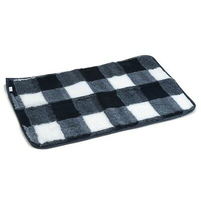 Beeztees Dog Crate Bedding Mat Polyester Washable 89x60 cm Blue and White 704015