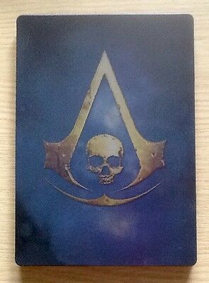 Rare Assassins Creed Iv Black Flag Black Chest Collector's Edition Steelbook New