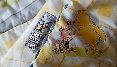 Winnie The Pooh Baby Cot Doona...double Sided***excellent Condition/like New***