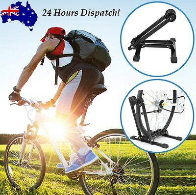 """Bicycle Floor Parking Storage Stand Bike Cycling Display Rack Holder """"L"""" Style Z"""