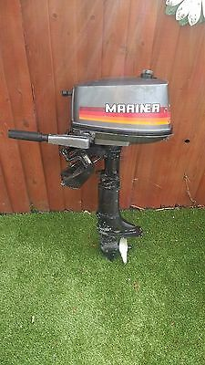 Mariner Yamaha Outboard Engine Motor 4 Hp Fishing Boat Dingy Tender 2 Stroke