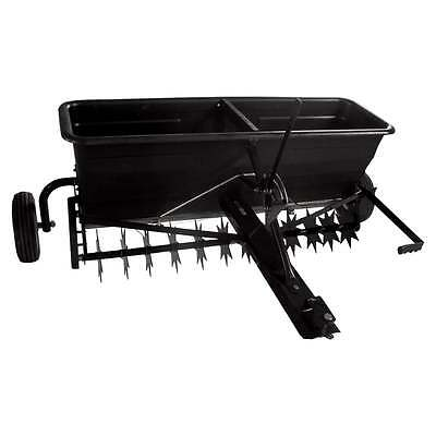 Towed Spiker Aerator Fertiliser Grass Seed Drop Spreader 175lb Capacity