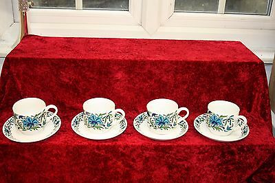 Midwinter Spanish Garden By Jessie Tait 4 Tea Cups & Saucers