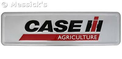 "Case IH Agriculture Large Embossed Steel Sign. 42""X12"" MAN CAVE COLLECTIBLE"