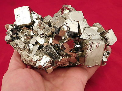 A HUGE! AAA PYRITE Crystal CUBE Cluster From the Huanzala Mine Peru 1340gr e
