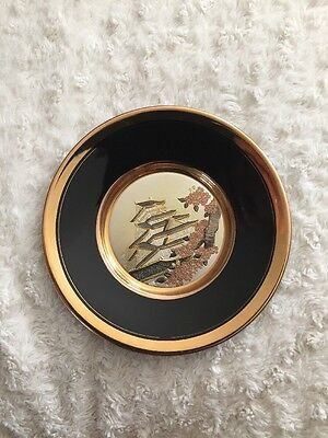 Japanese Plate 24k Edged Gold