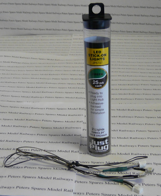"Woodland Scenics Just Plug JP5737 Green LED Stick-On Light 2 lights, 24"" Cable"
